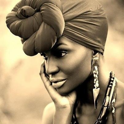 Black woman with head wrap - Opinionatedmale