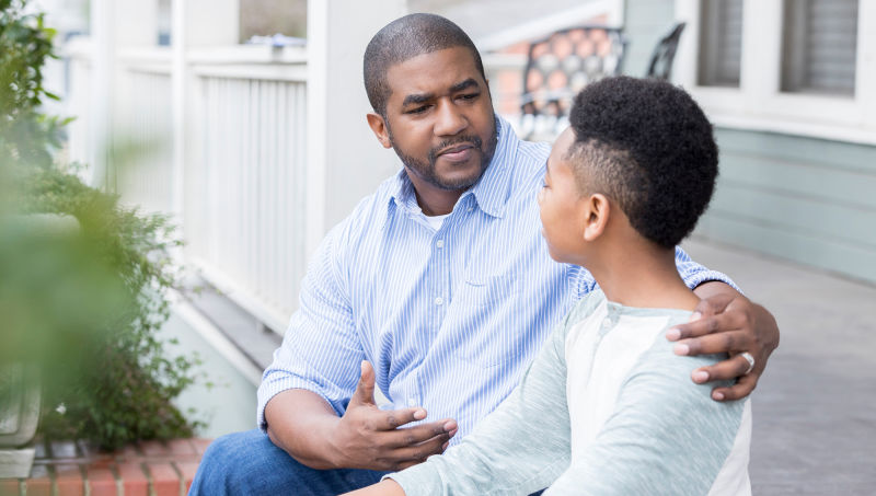 African American father and son - Opinionatedmaleblog