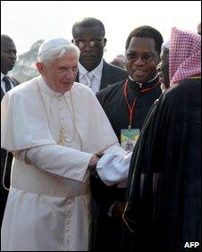 The Pope Benedict in Cameroon - OpinionatedMaleblog