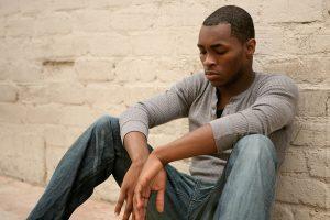 scared-black-man - American American Man sad - Opinionatedmaleblog