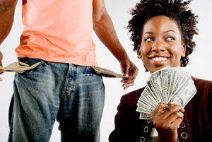Man and Woman Money - OpinionatedMale.com