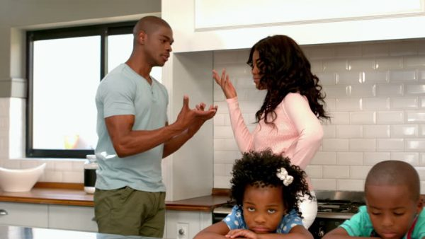 African American Parents -Couple Arguing - Children - Opinionated Male Blog
