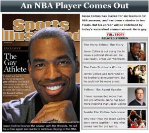 Jason Collins Gay - Athlete- OpinionatedMale.com