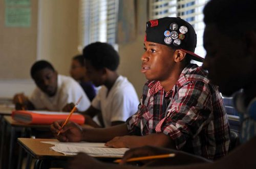 African American boy in School - Opinionated Male Blog - Education Motivation