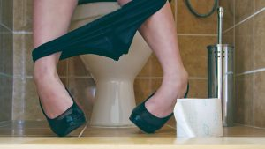 woman using toilet -opiionatedmaleblog