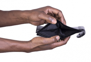 African American man-holding-empty-wallet-OpinionatedMale