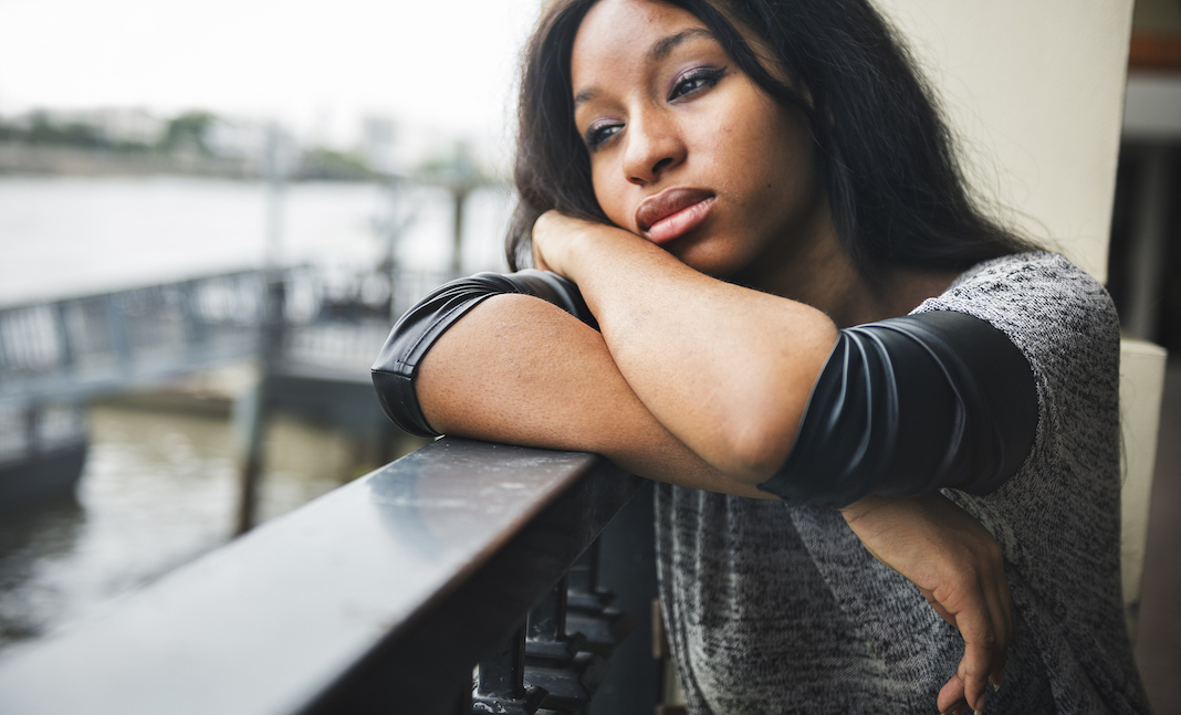 African American Depressive Sad Broken Heart Concept - OpinionatedMale.com Ask The Men Advice Column